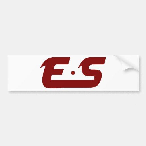 Marrón fangoso original de E.S Etiqueta De Parachoque