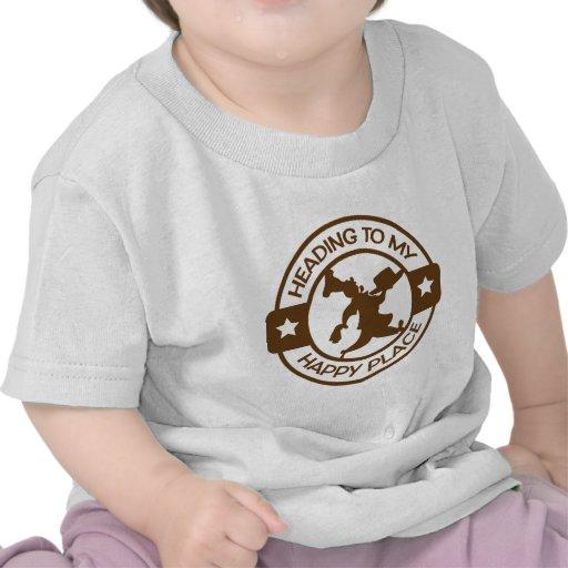 Marrón feliz del chef de repostería del lugar A259 Camiseta