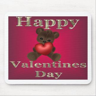 marrón feliz del día de San Valentín Alfombrillas De Ratón