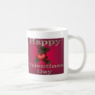 marrón feliz del día de San Valentín Taza Clásica