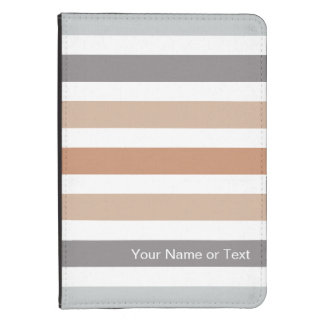 marrón gris de los colores neutrales rayados funda para kindle