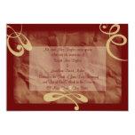 Marrón/invitación que se casa texturizada de color invitación 12,7 x 17,8 cm