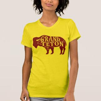 Marrón magnífico del búfalo de Teton Camisetas