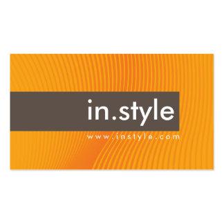 Marrón moderno de moda del naranja de la tarjetas de visita