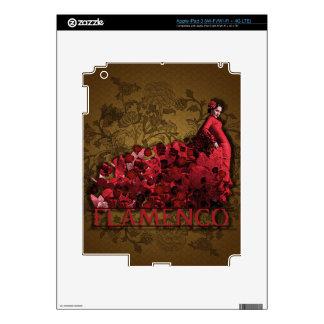 Marrón negro rojo del arte de la danza de España Pegatina Skin Para iPad 3