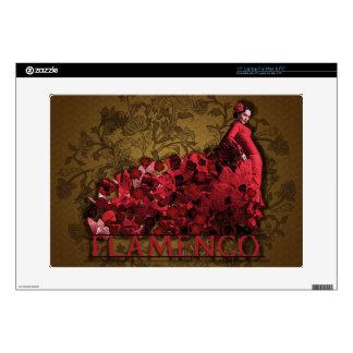 Marrón negro rojo del arte de la danza de España Skins Para 38,1cm Portátiles