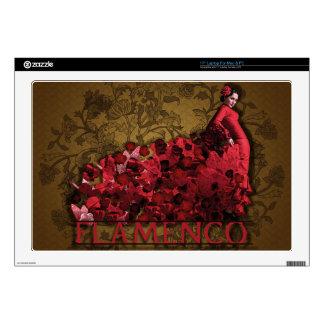 Marrón negro rojo del arte de la danza de España Skins Para 43,2cm Portátil