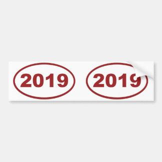 marrón rojo 2019 pegatina para auto