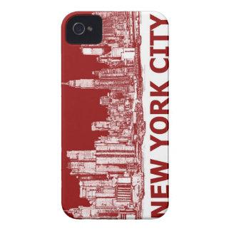 Marrón rojo de Nueva York iPhone 4 Cárcasa