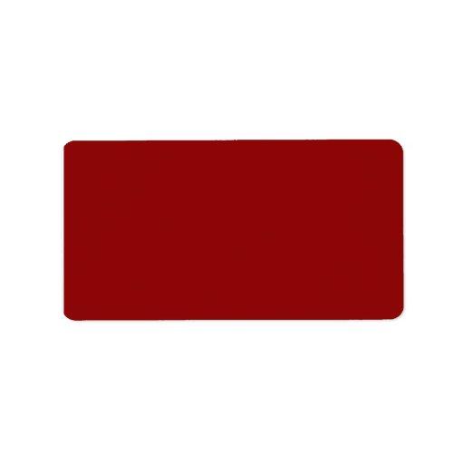 Marrón rojo etiquetas de dirección