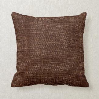 Marrón simple de la arpillera cojín decorativo