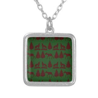 Marrón verde rústico salvaje de los árboles de pin joyerias personalizadas