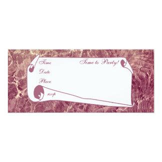 Marrón veteado invitación 10,1 x 23,5 cm
