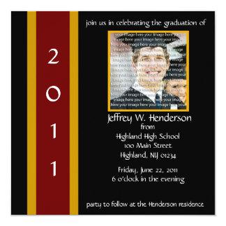 Marrón y invitación de la graduación de la escuela