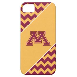 Marrón y oro M de Minnesota iPhone 5 Carcasa
