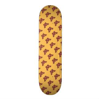 Marrón y oro M de Minnesota Tablas De Skate