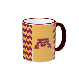Marrón y oro M de Minnesota Taza De Dos Colores