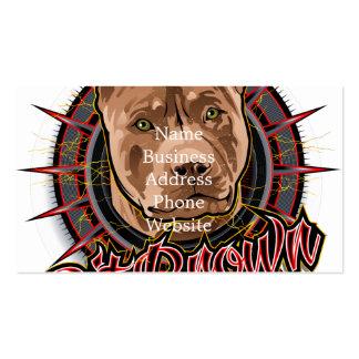marrón y rojo radicales del pitbull del arte del tarjetas de visita