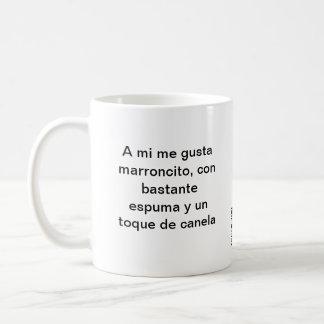 Marroncito with cinnamon coffee mug