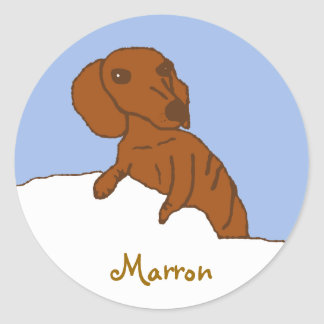 marrondrawing, Marron Classic Round Sticker