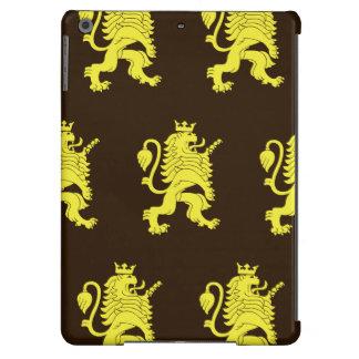 Marrones amarillos coronados del león funda para iPad air