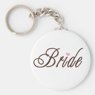 Marrones con clase de la novia llavero personalizado