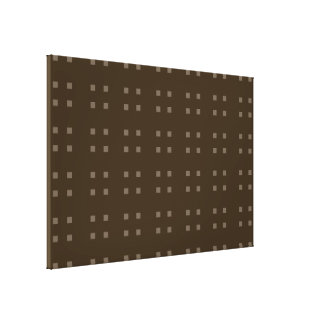 Marrones cuadrados del modelo impresiones de lienzo