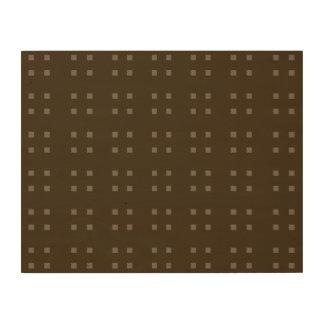 Marrones cuadrados del modelo impresión en madera