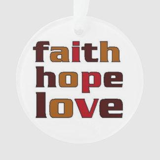 Marrones del amor de la esperanza de la fe