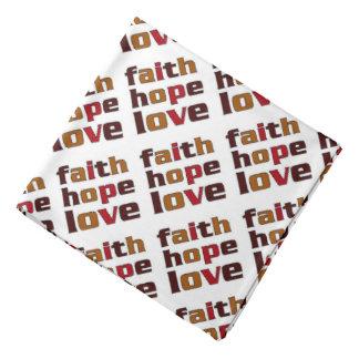 Marrones del amor de la esperanza de la fe bandanas