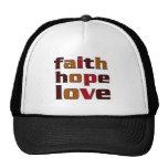 Marrones del amor de la esperanza de la fe gorro