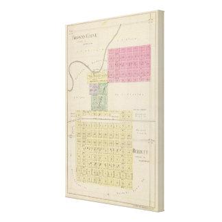 Marrones Groveand Burdett, Kansas Impresión En Lienzo