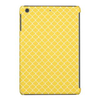 Marroquí amarillo brillante Quatrefoil Fundas De iPad Mini