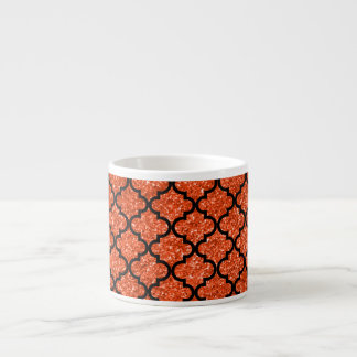 Marroquí anaranjado de neón del brillo tazas espresso