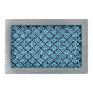 marroquí azul brumoso del brillo hebillas de cinturon rectangulares