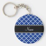 Marroquí azul conocido personalizado llaveros
