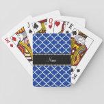 Marroquí azul conocido personalizado barajas de cartas