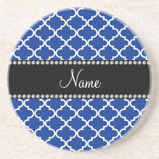 Marroquí azul conocido personalizado posavasos para bebidas