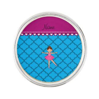 Marroquí azul personalizado de la bailarina conoci insignia