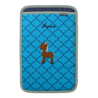 Marroquí azul personalizado del caballo conocido fundas MacBook