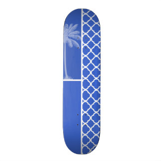 Marroquí azul Quatrefoil de Han; Palma Patinetas Personalizadas