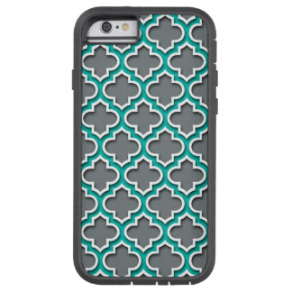 Marroquí blanco Quatrefoil #5DS del trullo del Funda Para iPhone 6 Tough Xtreme