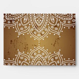 marroquí Brown de la opción 5 del sobre 5x7 profun