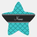 Marroquí conocido personalizado de la turquesa pegatina forma de estrella
