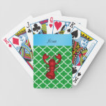 Marroquí conocido personalizado del verde de la la baraja de cartas
