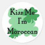 Marroquí Etiquetas Redondas