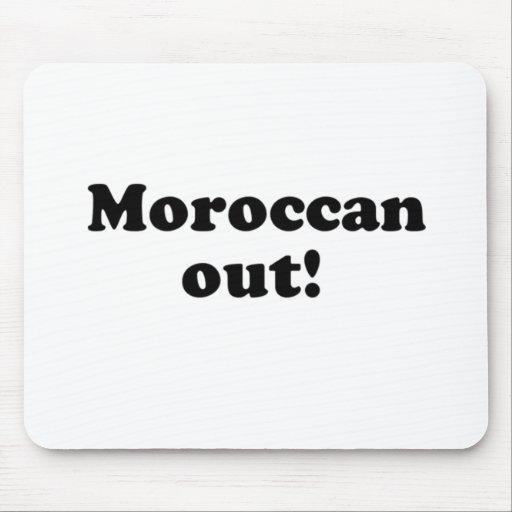 marroquí hacia fuera tapete de raton