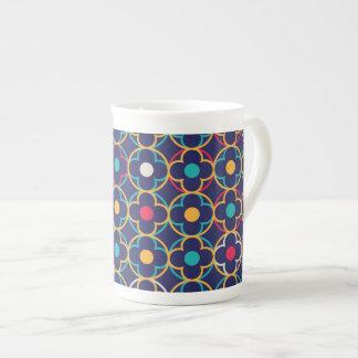 Marroquí, ogee, oscuridad, multi, colores, de taza de porcelana