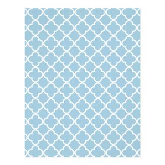 Marroquí Patt de Quatrefoil del azul y del blanco Flyer A Todo Color