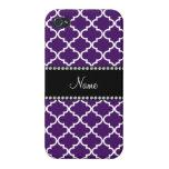 Marroquí púrpura conocido personalizado iPhone 4 fundas